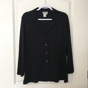 90s VNTG Cold Water Creek Black Panel Button Up